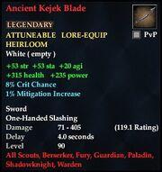 Ancient Kejek Blade