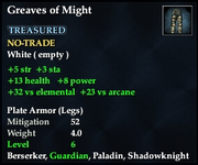 Greaves of Might