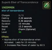 Superb Elixir of Transcendence