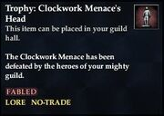 Trophy Clockwork Menaces Head