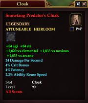 Snowfang Predator's Cloak