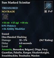Sun Marked Scimitar