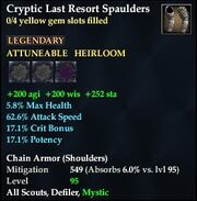 Cryptic Last Resort Spaulders