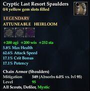 Cryptic Last Resort Spaulders