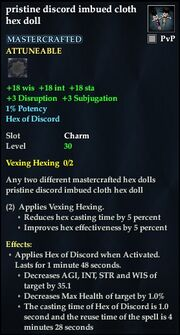 Pristine discord imbued cloth hex doll
