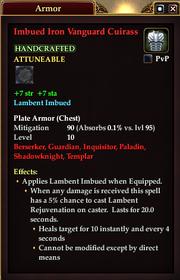 Imbued Iron Vanguard Cuirass