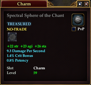 Spectral Sphere of the Chant