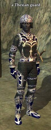 A Thexian guard (Thexian Hideaway)