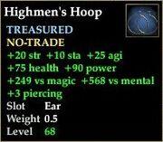 Highmen's Hoop