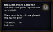 Red Mechanized Lamppost