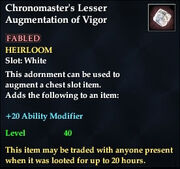 Chronomaster's Lesser Augmentation of Vigor