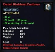 Dented Bladehand Pauldrons