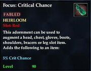 Focus Crit Chance