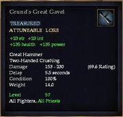 Grund's Great Gavel
