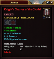 Knight's Greaves of the Citadel