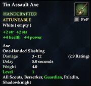 Tin Assault Axe