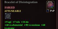Bracelet of Disintegration