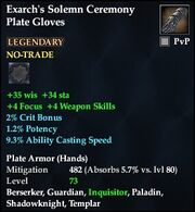 Exarch's Solemn Ceremony Plate Gloves