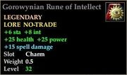 Gorowynian Rune of Intellect