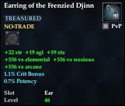 Earring of the Frenzied Djinn