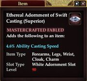 Ethereal Adornment of Swift Casting (Superior)
