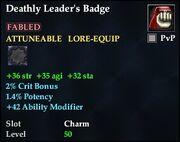 Deathly Leader's Badge