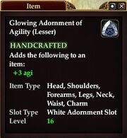 Glowing Adornment of Agility (Lesser)