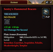 Sentry's Hammered Bracers