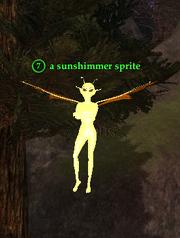 A sunshimmer sprite