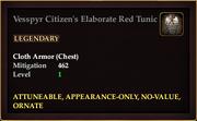 Vesspyr Citizen's Elaborate Red Tunic