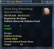 Druid Ring Rebuilding- Special Edition