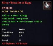 Silver Bracelet of Rage