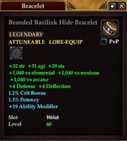 Branded Basilisk Hide Bracelet