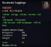 Excarnate Leggings