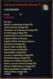 Advanced Alchemist Volume 73