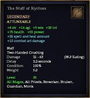 The Staff of Kyrtoxx