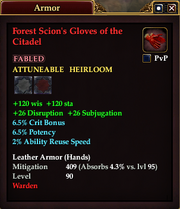 Forest Scion's Gloves of the Citadel