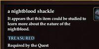 A nightblood shackle