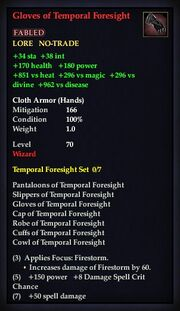 Gloves of Temporal Foresight