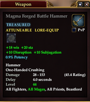 Magma Forged Battle Hammer