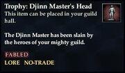 Trophy Djinn Master's Head