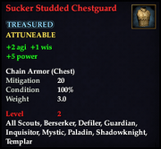 Sucker Studded Chestguard