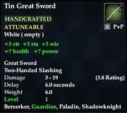 Tin Great Sword