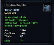 Obsidian Bracelet