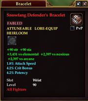 Snowfang Defender's Bracelet