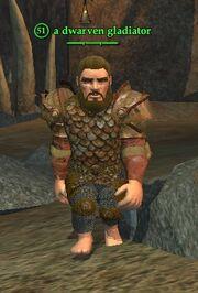 A dwarven gladiator