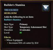 Builders stamina