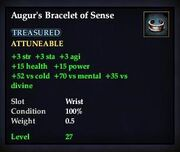 Augur's Bracelet of Sense