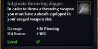 Fulginate throwing dagger