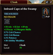 Imbued Cape of the Swamp